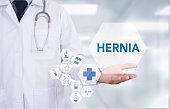Hernia inguinal que afecta distintias partes del abdomen